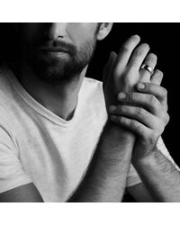 David Yurman - Black Knife-edge Band Ring for Men - Lyst