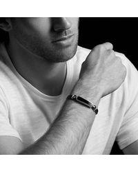David Yurman - Metallic Exotic Stone Bar Station Bracelet In Brown Leather With Tiger Eye - Lyst