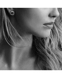David Yurman - Metallic Albion® Earrings With Prasiolite And Diamonds, 7mm - Lyst