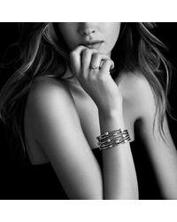 David Yurman - Metallic Petite Pave Oval Ring With Diamonds In 18k Gold - Lyst