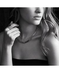 David Yurman | Metallic Labyrinth Link Necklace With 18k Gold | Lyst