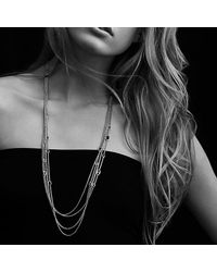 David Yurman | Metallic Confetti Station Necklace With Diamonds | Lyst