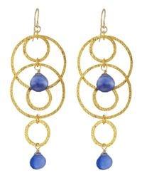 Devon Leigh Blue Five-Circle Periwinkle Earrings