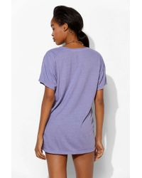 Truly Madly Deeply | Purple Scoopneck Slouch Pocket Tee | Lyst