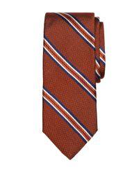 Brooks Brothers - Orange Framed Stripe Tie for Men - Lyst