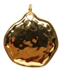 Monica Vinader | Metallic Extra Large Riva Gold Vermeil Pendant | Lyst
