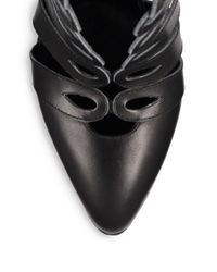Altuzarra - Black Goliath Cutout Leather Sandal Booties - Lyst