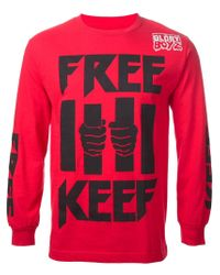 Been Trill - Red 'Free Keef' Sweatshirt for Men - Lyst