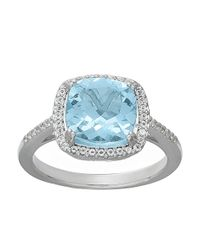 Lord & Taylor | Blue 14 Kt. White Gold And Topaz Ring | Lyst