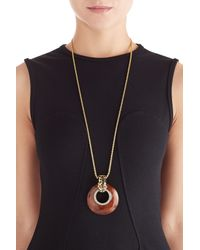 Kenneth Jay Lane | Metallic Gold-plated Leopard Statement Necklace - Brown | Lyst