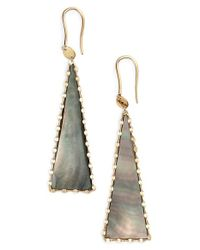 Lana Jewelry | Black 'mystiq' Triangle Drop Earrings | Lyst