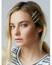 Free People | Metallic Fast Forward Bobby Pins | Lyst