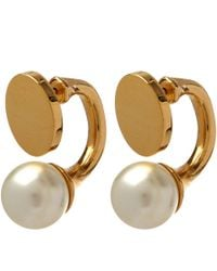 Chloé - Metallic Gold Darcey Round Pearl Earrings - Lyst