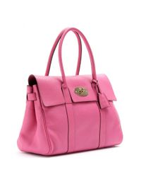 Mulberry Pink Bayswater Glossy Leather Tote