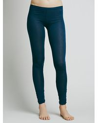 Free People | Blue Sensual Jersey Legging | Lyst