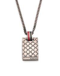 Gucci | Metallic Dtissima Silver Pendant Necklace for Men | Lyst