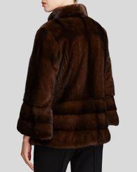 Maximilian - Brown Bell Sleeve Mink Coat - Bloomingdale's Exclusive - Lyst
