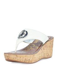 934c44fa25e16 Sam Edelman. Women s Brown Ruth Leather Wedge Sandal