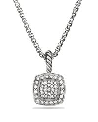 David Yurman | Metallic Petite Albion Pendant With Diamonds On Chain | Lyst