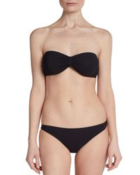 Dolce & Gabbana - Black Strapless Bandeau Bikini Top - Lyst