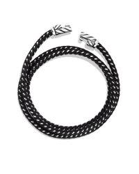 David Yurman | Chevron Triplewrap Bracelet in Black for Men | Lyst