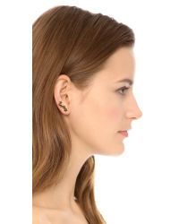 Kismet by Milka | 5 Star Ear Climber - Black/Gold | Lyst