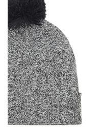 Forever 21 | Black Pom Pom Fold-over Beanie | Lyst