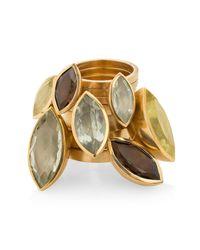 Ilene Steele Jewellery | Metallic Large Marina Ring Smoky Quartz | Lyst