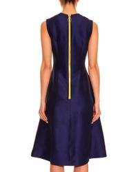 ROKSANDA Blue Stripe-detail Crepe Dress