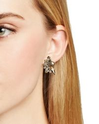 Sorrelli - Metallic Navette Stud Earrings - Lyst