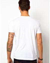 ASOS White Tshirt with Swedish House Mafia Print for men