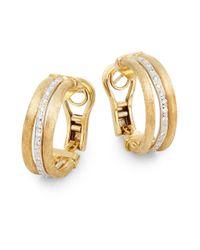 Marco Bicego | Metallic Jaipur Diamond & 18k Gold Hoop Earrings | Lyst