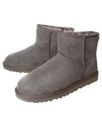 UGG Gray Classic Mini Ankle Boots