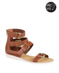 424 Fifth Brown Zain Gladiator Sandals