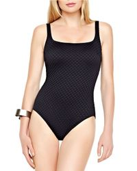 Gottex Black Diamond In The Rough One-piece Swimsuit