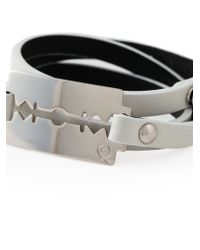 McQ White Razor Blade Triple Wrap Bracelet