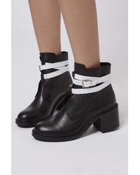 TOPSHOP - Black Mitchell Ankle Boots - Lyst