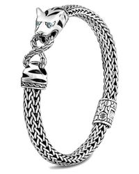 John Hardy | Metallic Classic Chain Pave Diamond Macan Kick Cuff | Lyst