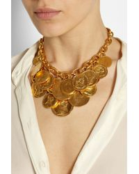 Ben-Amun - Metallic Gold-Plated Coin Necklace - Lyst