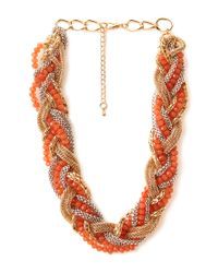Forever 21 | Pink Be Seen Braided Necklace | Lyst