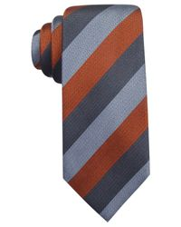 Vince Camuto - Orange Marino Stripe Slim Tie for Men - Lyst