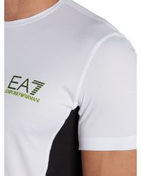 EA7 | White Ventus Logo Crew Neck Regular Fit T-shirt for Men | Lyst
