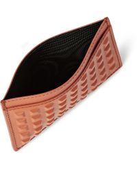 Balenciaga | Orange Studded Matte-Leather Cardholder for Men | Lyst