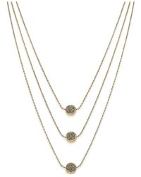 INC International Concepts | Metallic Gold-tone Beaded Horn Pendant Necklace, Only At Macy's | Lyst