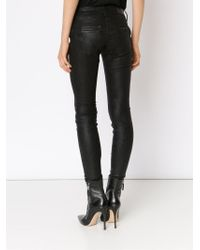 RTA - Black 'jagger' Leather Trousers - Lyst