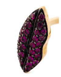 Delfina Delettrez Metallic 'lips Piercing' Ring