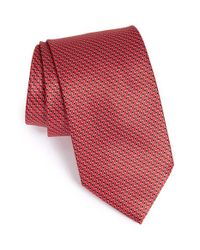 Brioni | Red Geometric Silk Tie for Men | Lyst