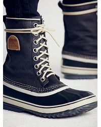 Free People - Black 1964 Canvas Weather Boot - Lyst