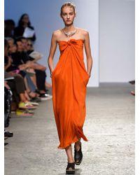 Sportmax Orange Umes Dress