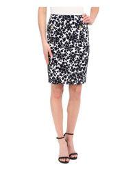 MICHAEL Michael Kors White Gemma Pencil Skirt